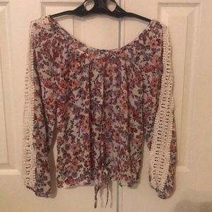 American Rag long sleeve, floral blouse.